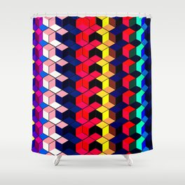 Spectrum Cubes / Pattern #7 Shower Curtain
