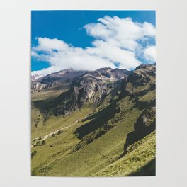 View Hiking up Iztaccihutal Volcano, Mexico City Poster