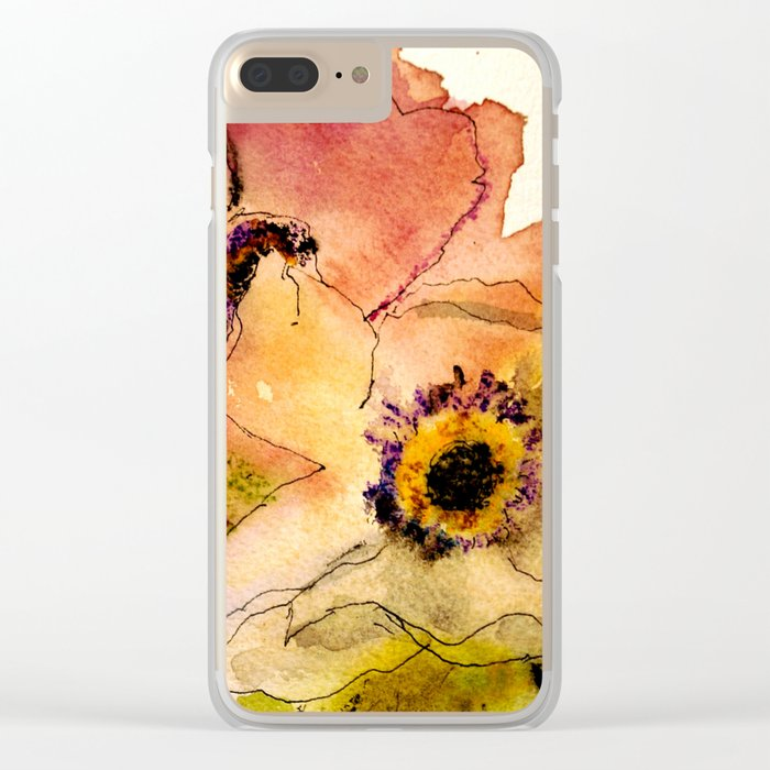 miracle flowers Clear iPhone Case