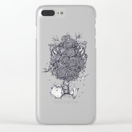 Ribs with peonies Clear iPhone Case