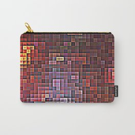 Burgundy Nebula Pixels Carry-All Pouch