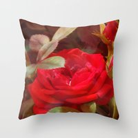 ruby Throw Pillows featuring Ruby by Aubrey