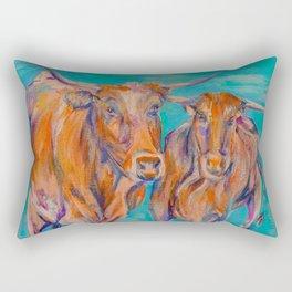 Longhorn Brights Rectangular Pillow