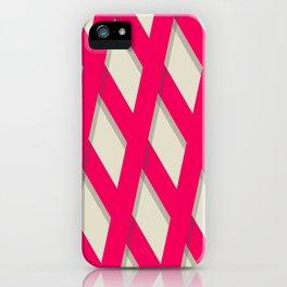 Red Lattice iPhone Case