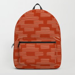 Rust Bird's Eye Pattern Backpack
