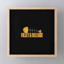 Fillet And Release Fish Bones Fisherman Funny Framed Mini Art Print