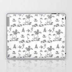 Black Toile Unicorn Laptop & iPad Skin