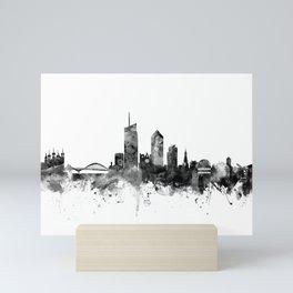 Lyon France Skyline Mini Art Print