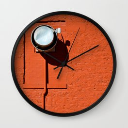 Industrial Red Wall Clock