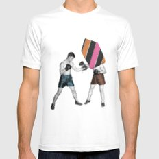 Mixed Martial Art MEDIUM White Mens Fitted Tee