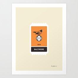 Baltimore Baseball Ticket (16 of 30) Art Print