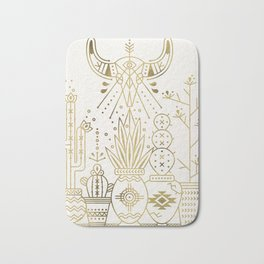 Santa Fe Garden – Gold Ink Bath Mat