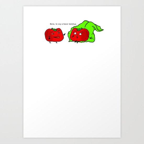 Tomatito Travieso Art Print