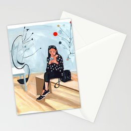 Texting With Calder Stationery Cards