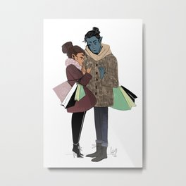 Ronnie and Elia Metal Print