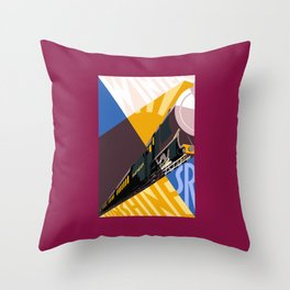 Travel South for Winter Sunshine Throw Pillow