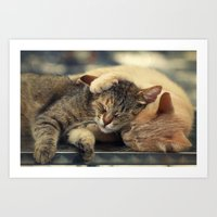 friendship Art Prints featuring Friendship by Ellen van Deelen