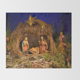 Nativity scene Throw Blanket
