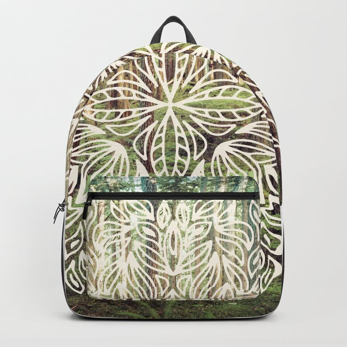 Mandala Vintage Forest Path Backpack