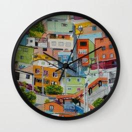 Casas de colores. Medellín Wall Clock