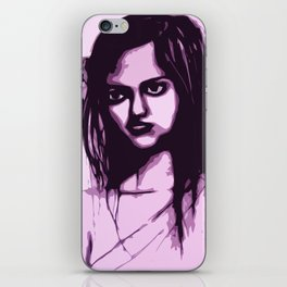 Sullen Girl iPhone Skin