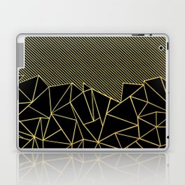 Ab Lines 45 Gold Laptop & iPad Skin