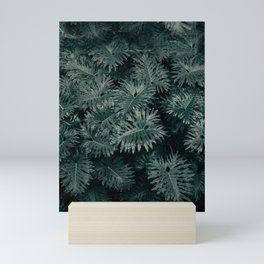 Monstera Leaves - Blue Mini Art Print