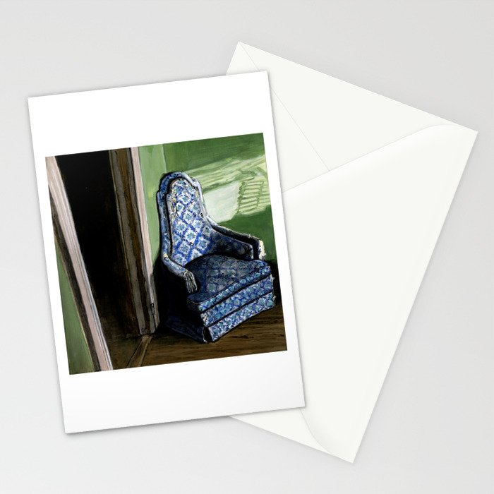Old Blue Chair in Sunlight Corner Stationery Cards