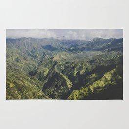 Mountain Ridges - Kauai, Hawaii Rug
