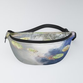 Autumn Lotus Pond Reflections Fanny Pack