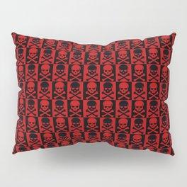 Red Skulls Pillow Sham
