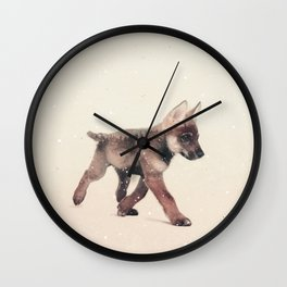 Little Ones: Wolf Wall Clock