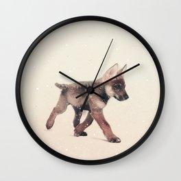 Little Ones: Wolf Wall Clock