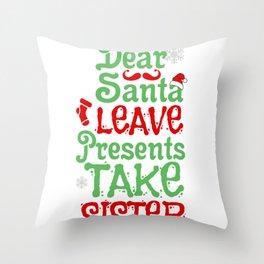 Christmas Santa Sister Santa Claus Gift Throw Pillow