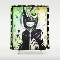 tokyo ghoul Shower Curtains featuring GHOUL by shannon's art space
