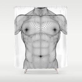 Digital Man Torso Shower Curtain