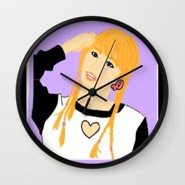 Knock Knock! Momo Purple Wall Clock