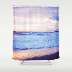 Purple Sunset over Hermosa Beach, Los Angeles  Shower Curtain