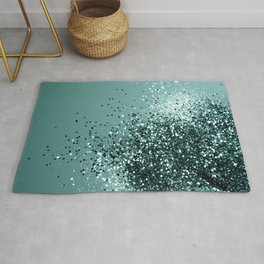 Teal Mermaid Ocean Glitter #1 #shiny #decor #art #society6 Rug