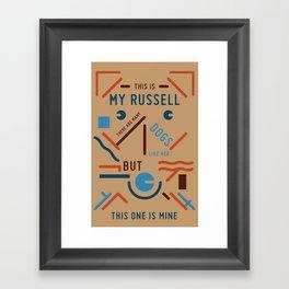 My Russell Framed Art Print