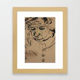 Strings Face Framed Art Print