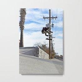 Kickflip to Street Metal Print