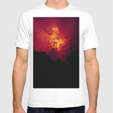 """With each sunrise, we start anew"" White Mens Fitted Tee MEDIUM"