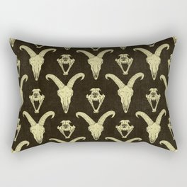 Two Skulls Rectangular Pillow