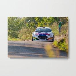 Andreucci-Andreussi peugeot 208 T16 Campionato Italiano Rally 2018 Metal Print