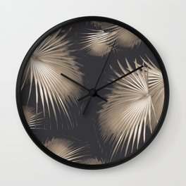 Fan Palm Leaves Paradise #5 #tropical #decor #art #society6 Wall Clock