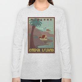 Ember Island Travel Poster Long Sleeve T-shirt