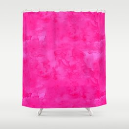 Neon pink watercolor modern bright background Shower Curtain
