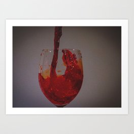 Drink wine to be happy Art Print