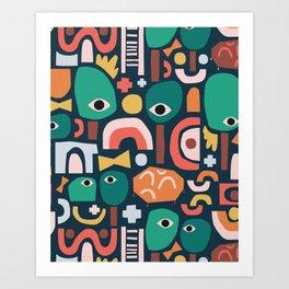 Abstract Playground Art Print